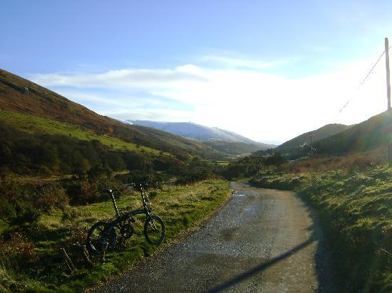 College Valley Estate: Cycling up College Valley