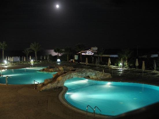 Pool And Sea At Night Picture Of Sunconnect Protaras
