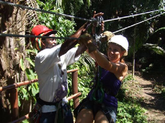 Belize Cave Tubing: What a ride on the zipline