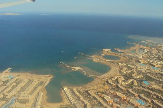 Hurghada from the airlplane.