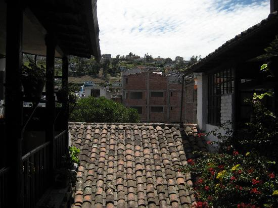 Hostal Dona Esther: daytime view from courtyard balcony