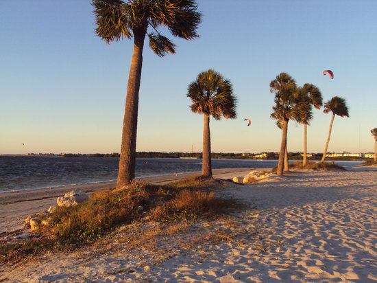 Tarpon Springs, Floride : Sunset beach, fl