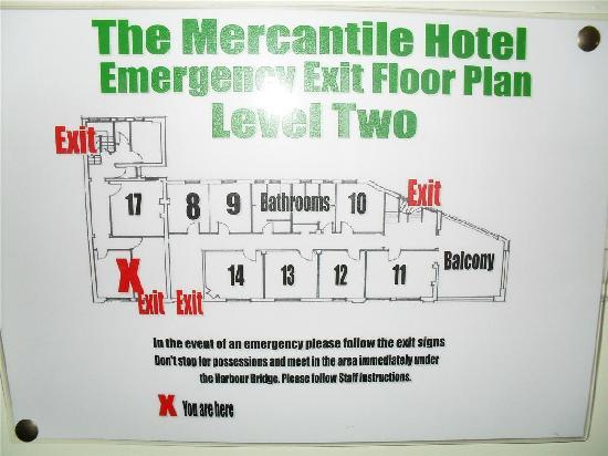 The Mercantile Hotel: Layout of top floor