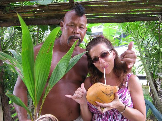 Fort Nuestra Senora de la Soledad: Sipping fresh coconut milk from Big John