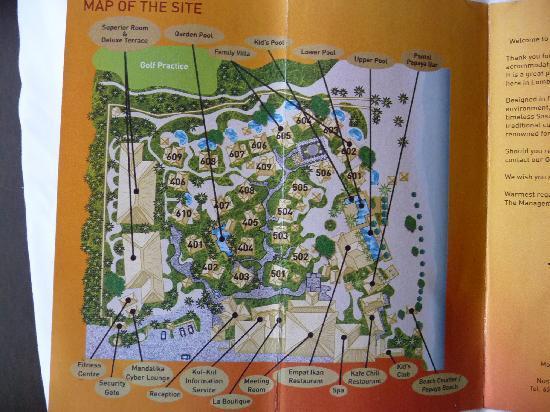 Novotel Lombok: Karte der Anlage