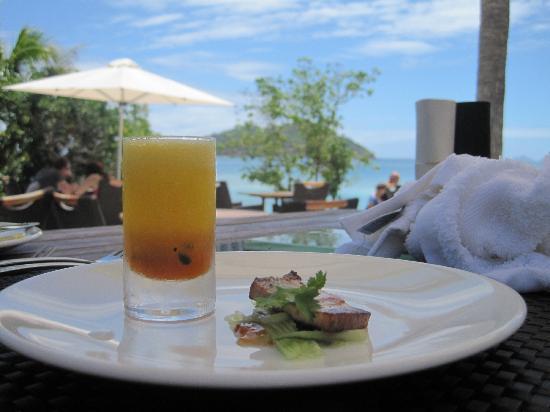 Likuliku Lagoon Resort: Appetizer.. food was incredible