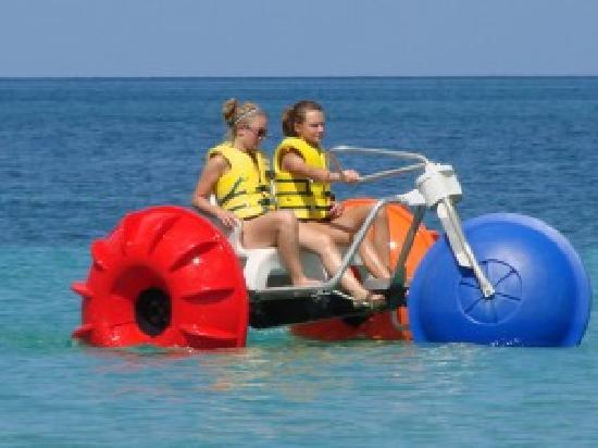 Beaches Negril Resort & Spa: Our girls on the water trike