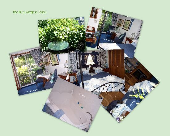 The Clover Field House: Blue Whirlpool Suite Collage