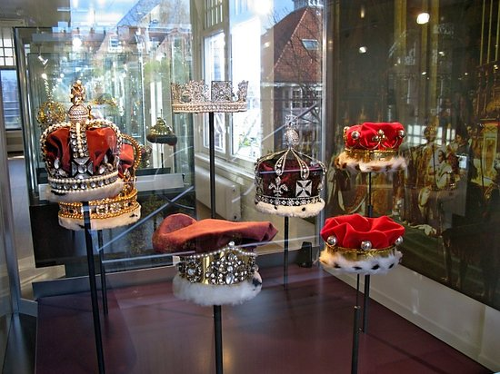 Amsterdam, The Netherlands: Crowns display