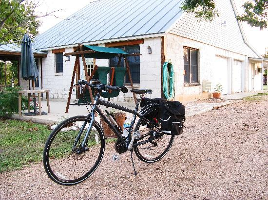 "Gruene Cottages: Ready to head home, ""Sage"" Guestroom in the background"