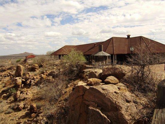 Okahandja, Namibia: Das Haupthaus mit Restaurant