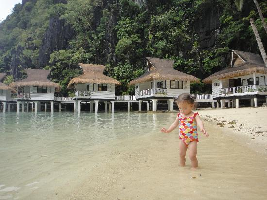 El Nido Resorts Miniloc Island: A young guest enjoying the beach :-)