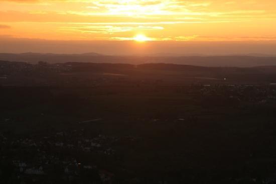 Drachenfelshotel: Sonnenuntergang auf dem Drachenfels