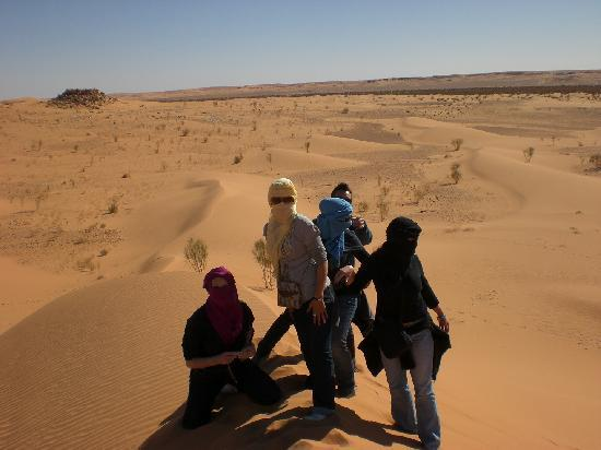Ghardaia, Algerije: Hiking in the Sahara