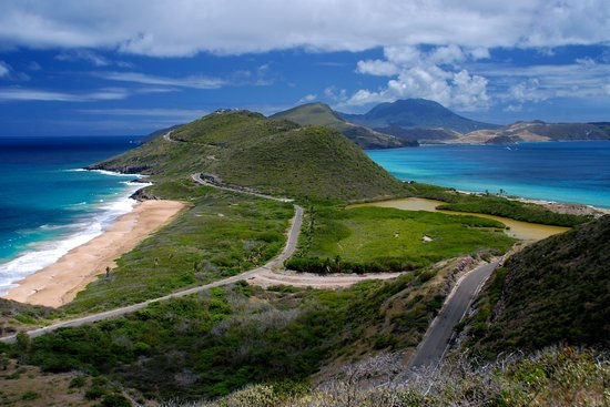 Бастер, Сент-Китс: A view of St Kitts and Nevis