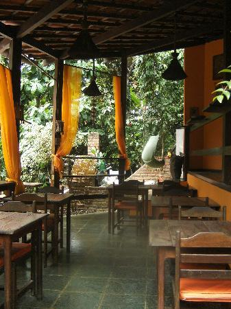 Pousada Aquarela: Frühstücksterrasse