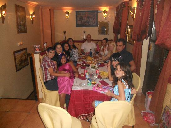 cena de cumpleaños