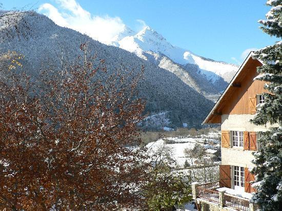 Les Terrasses de Saubissan: Vue à l'ouest, l'hiver.