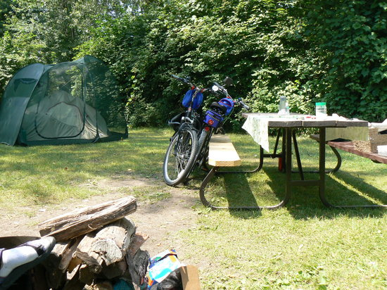 Long Point Provincial Campground: Campsite.