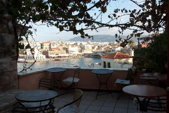 Pension Theresa: Harbour from terrace