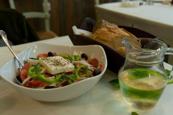 Ippokambos: A loaf of bread, a jug of wine,...and Greek salad!