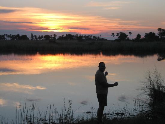 Chitabe Camp: Sunset at Hippo Pool