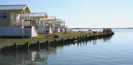 Castaways RV Resort & Campground: Beatuiful waterfront cabins on the bay...