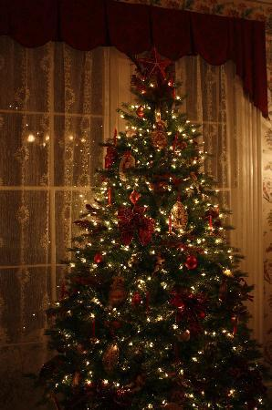 The Mason Cottage Bed & Breakfast Inn: One of the two lovely Christmas trees