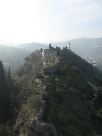 Tbilisi, Georgia: The oldest part of Narikala fortress' wall