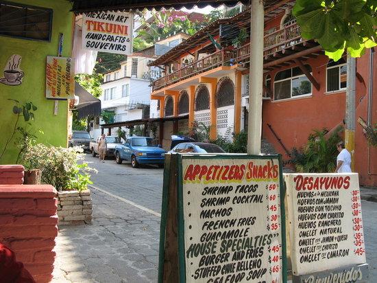 Salvador's menu & view