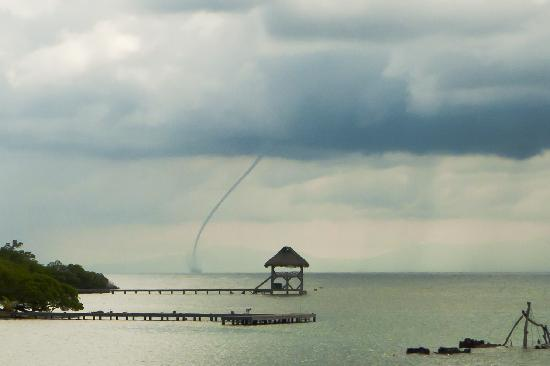 Castaways Cove: Waterspout seen from the deck