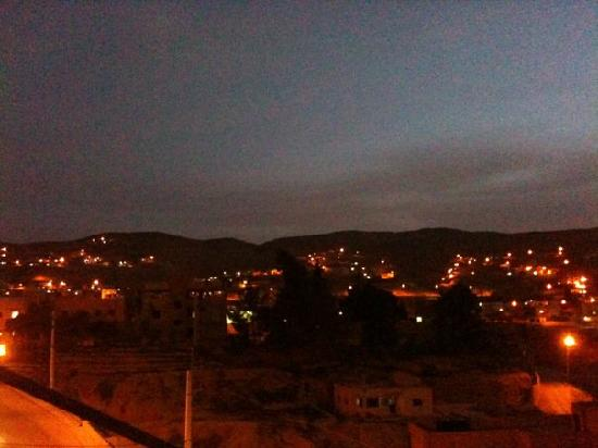Cleopetra Hotel: nightfall from the roof terrace