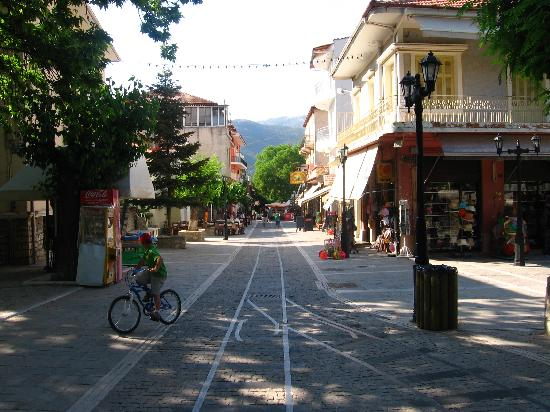 "Anesis Hotel: The central street of Kalavrita - ""a railroad"""