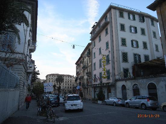 Hotel Firenze e Continentale La Spezia: 駅から撮った写真です