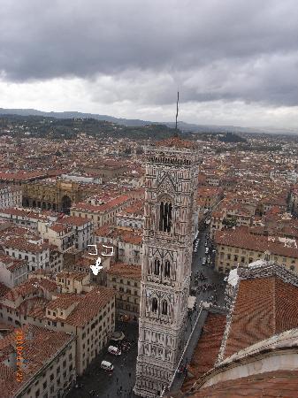 Costantini: ドゥオモクーポラからの眺め、ホテルはここ
