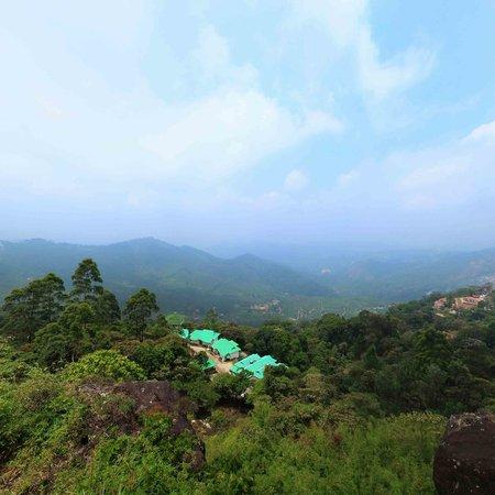 Deshadan Mountain Resorts: Arial View of Deshadan Munnar