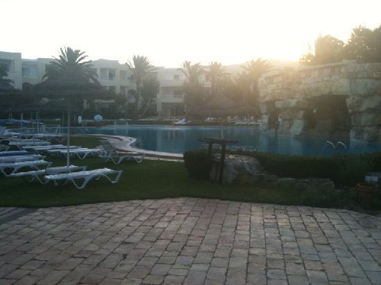 Tui Magic Life Africana: Main pool at sunrise