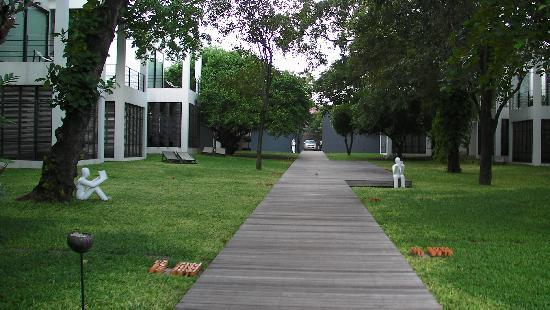 The Library: walkway