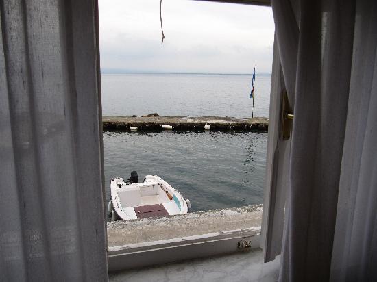 Porto Santo Stefano, Ιταλία: Blick aus dem Zimmer aufs Meer