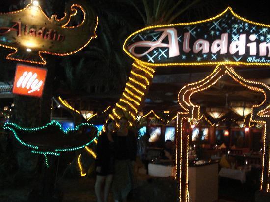 Aladdin Resturant: OUT THE FRONT