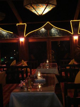Aladdin Resturant : TABLES WITH A VIEW OF THE RED SEA