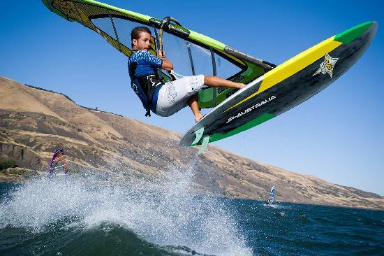 Hood River, Όρεγκον: Windsurfing on the Columbia River