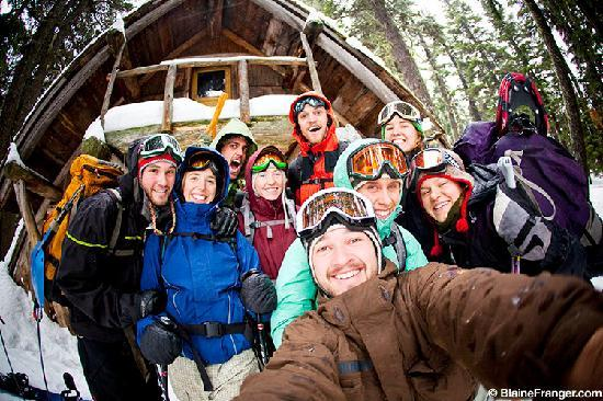 Hood River, Όρεγκον: Skiers and Boarders at Tilly Jane Cabin, Mt. Hood