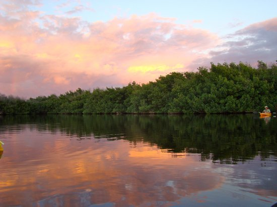Everglades City, Floride : Sunset on the lake