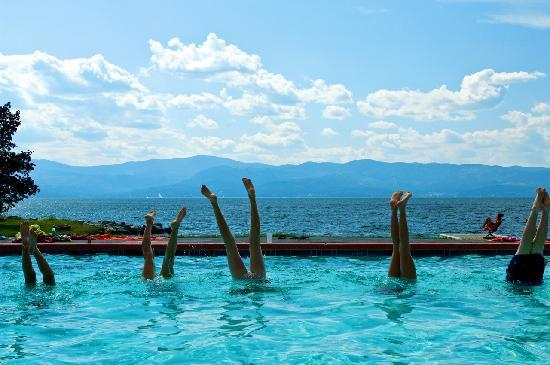 Averill's Flathead Lake Lodge: Fun in the pool