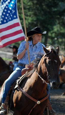 Averill's Flathead Lake Lodge: Kids Rodeo is one of the highlights at the Lodge