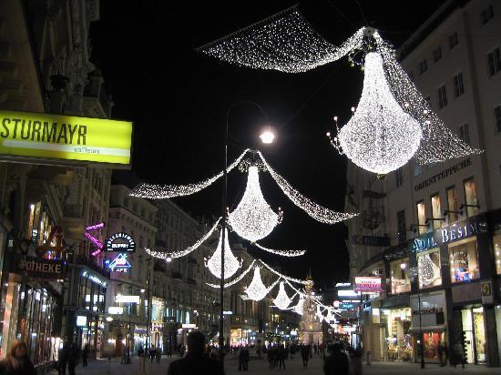 Otto Weihnachtsbeleuchtung.Weihnachtsbeleuchtung Innenstadt Wien изображение вена вена