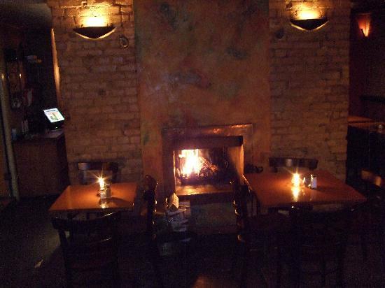 Lir Irish Bar: Fire place