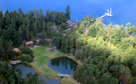 Captain Whidbey Inn: The Inn from the air.