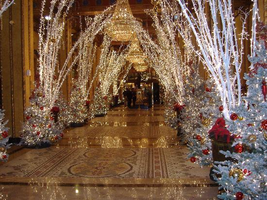 The Roosevelt New Orleans, A Waldorf Astoria Hotel: Lobby decorated for Christmas